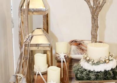 Dekoartikel aus der Natur-Kollektion der Weihnachts-Ausstellung 2015 - Kerzenhalter - Holz - Laterne - Kissen - Engel - Figur