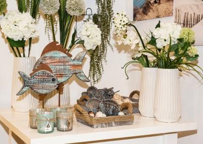 Dekoartikel der Frühlings-Ausstellung 2016 - Maritim - Kollektion - Teelichtglas - Fisch - Holz